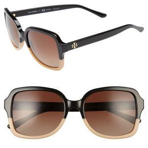 Tory Burch Two-Tone Polarized Sunglasses